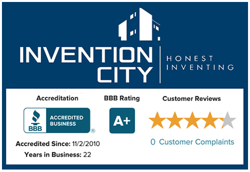 Invention City Rated A+ by BBB