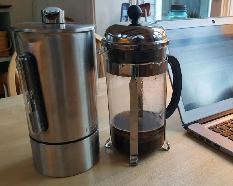 Rite Press and a classic french press