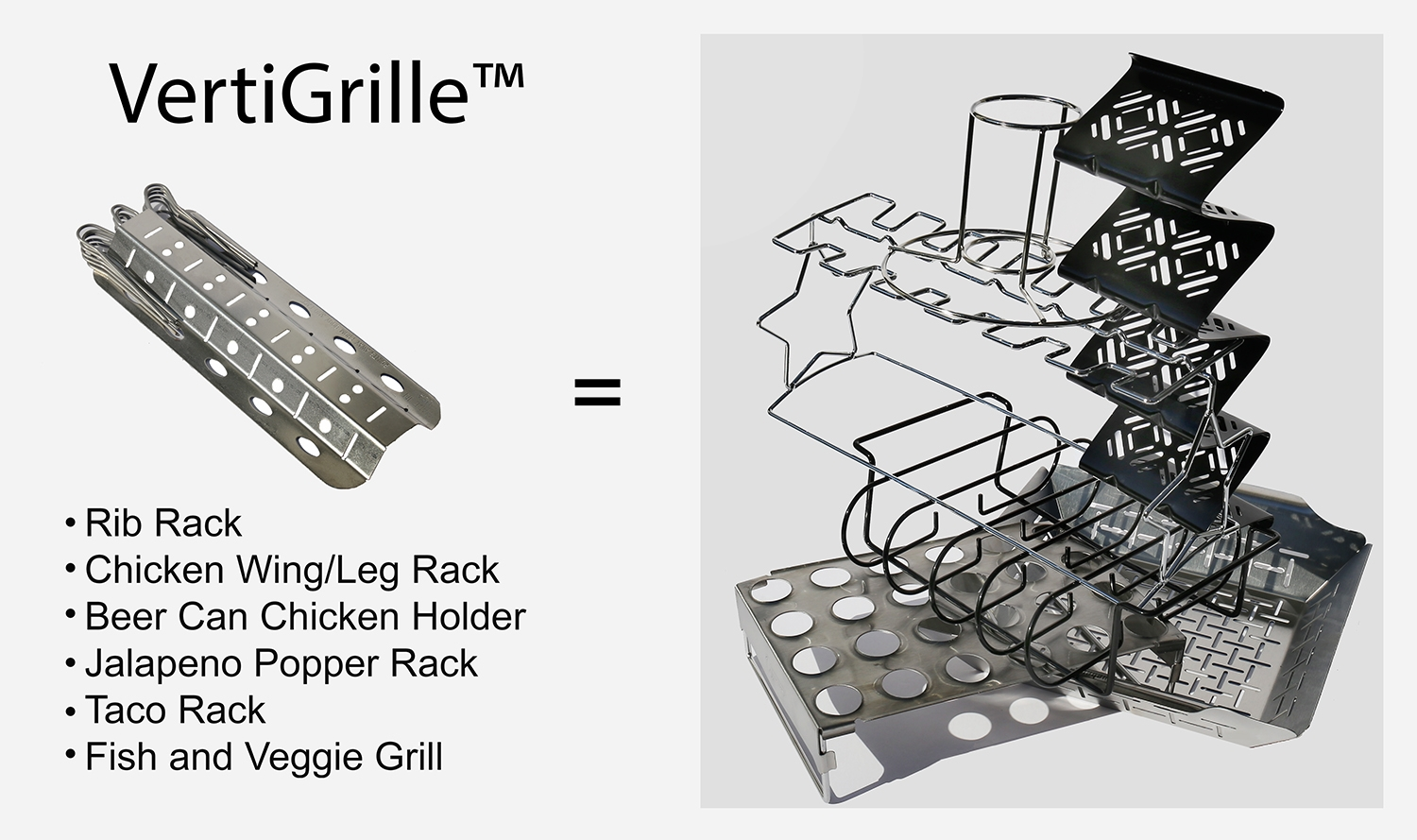 Vertigrille™ Universal Rib and Chicken Rack